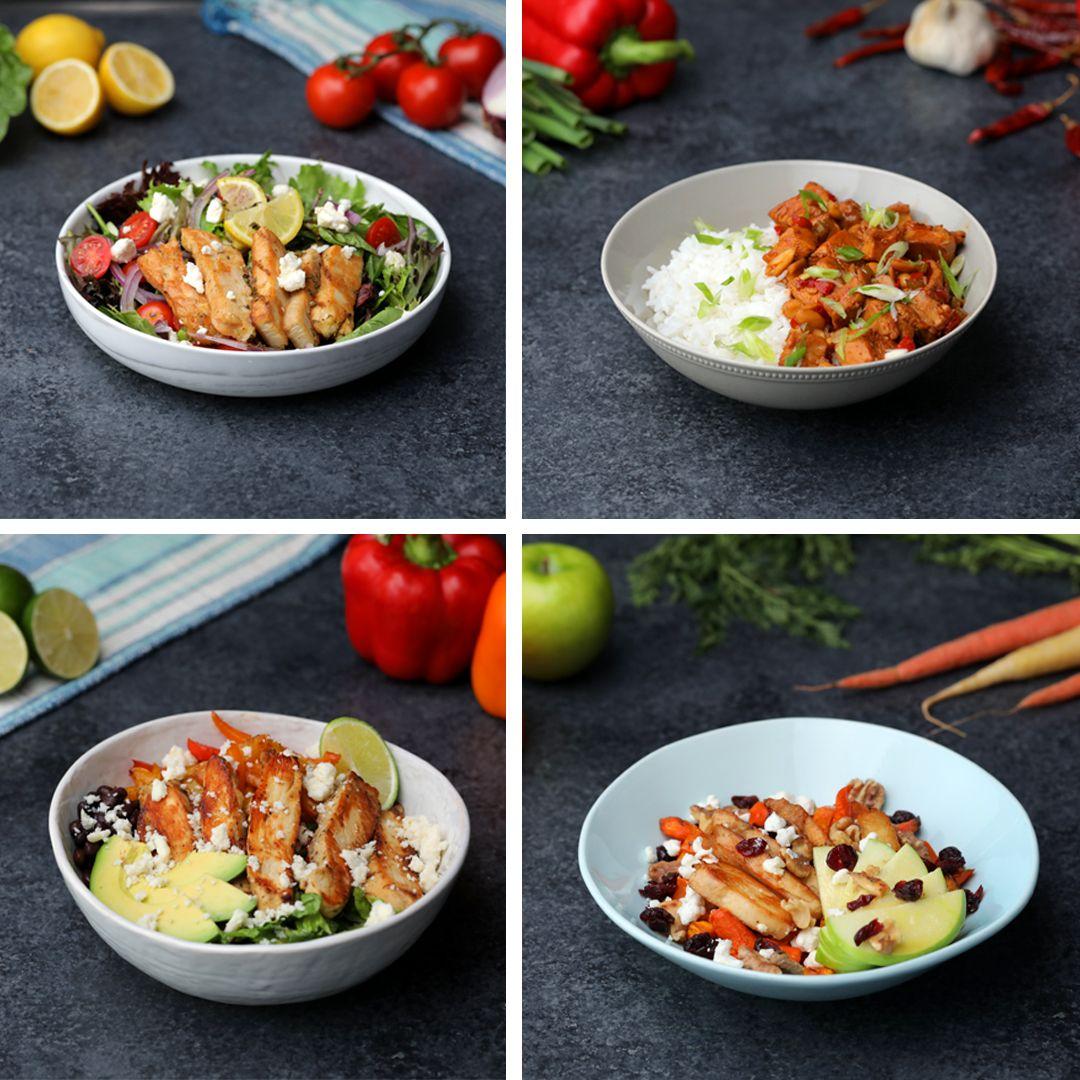 Chicken Bowls 4 Ways