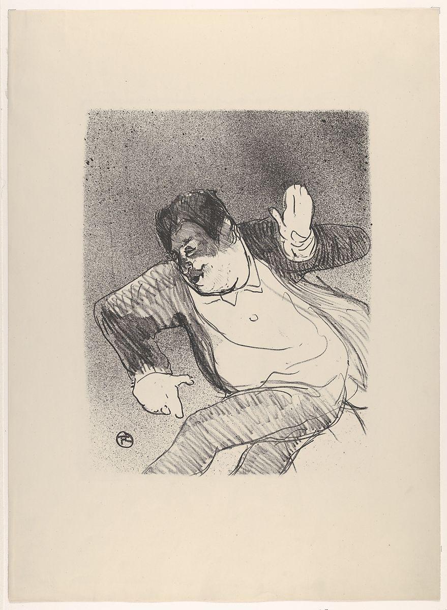 Henri de Toulouse-Lautrec | Caudieux at the Petit Casino (from Le Café Concert) | The Met