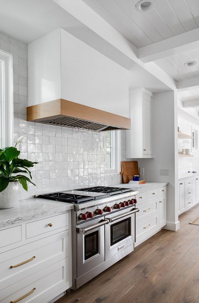 "Kitchen 4"" X 4"" Backsplash Tile White kitchen with 4"" X 4"" Backsplash ceramic Tile #ceramictile #Kitchen #BacksplashTile"