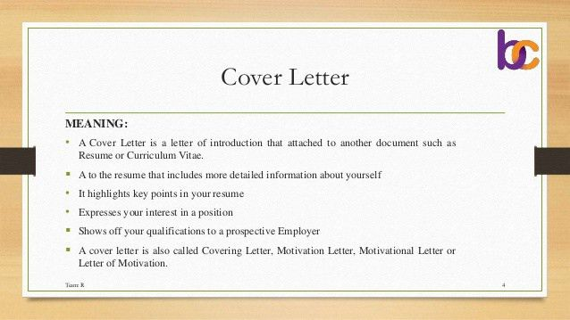 What Is The Meaning Of Cover Letter Cover Letter Definition The - cover letter definition