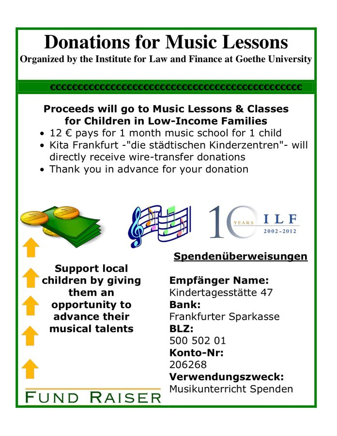 donation flyers