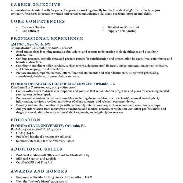 Sample Job Objective For Resume How To Write A Career Objective - marketing objective example