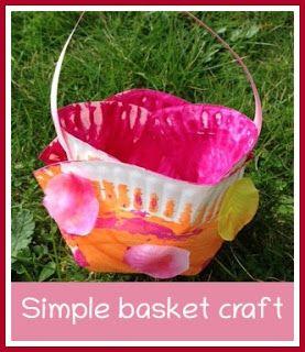 Simple paper plate Spring or Easter basket
