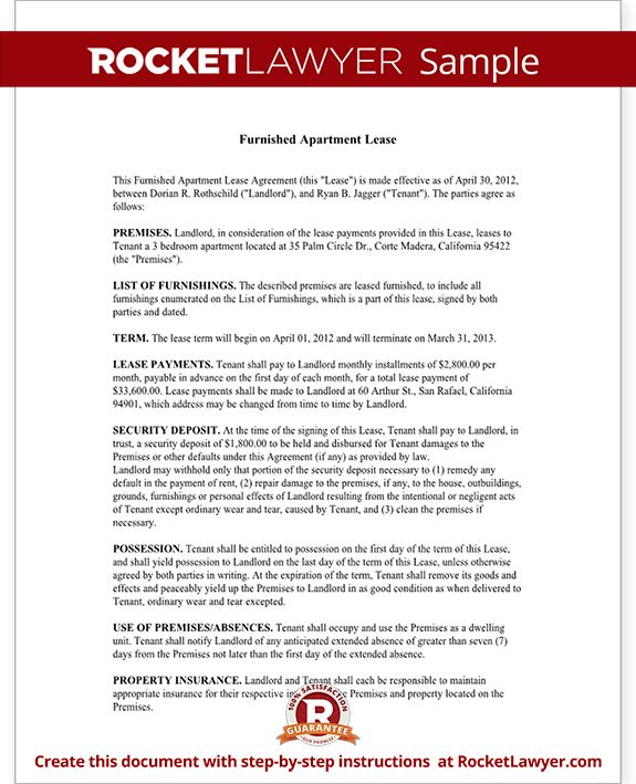 Sample Apartment Rental Agreement 42 rental application forms - lease template word
