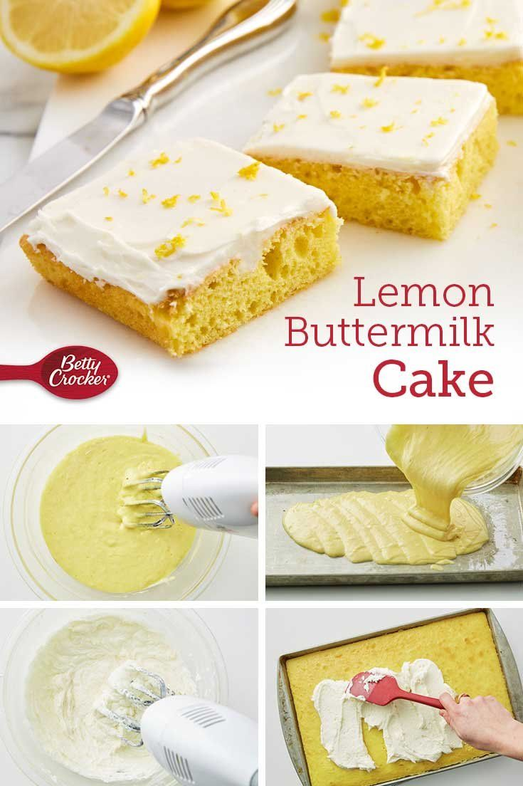 Balance out light lemon cake with a decadent buttercream frosting that makes this already-tempting treat even more irresistible. It's the perfect dessert for a crisp spring afternoon.