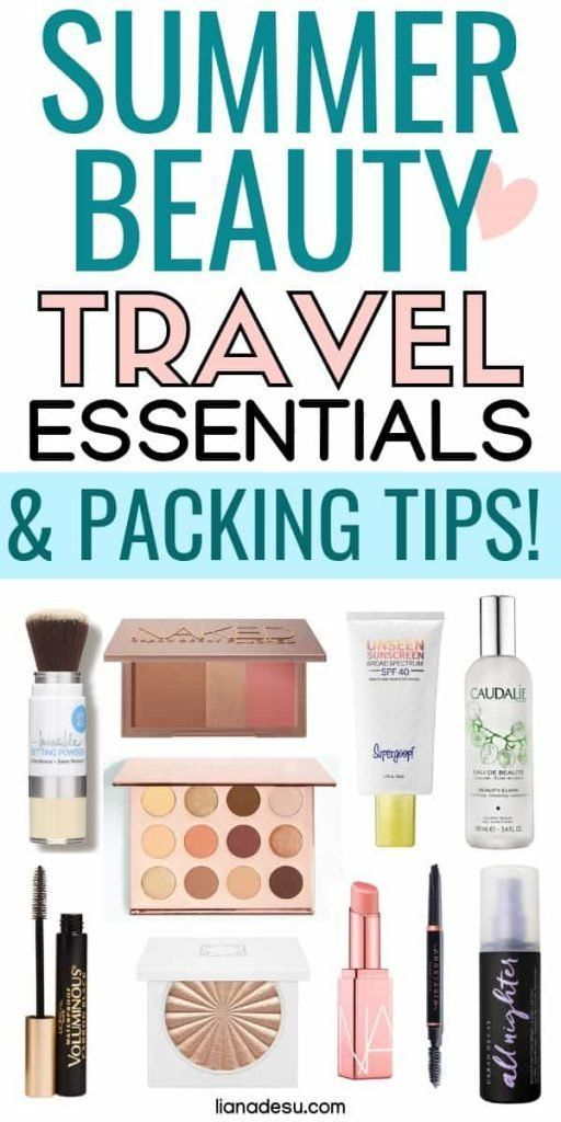 Packing makeup for trips can be tough! In this post, learn what essential summer beauty items you should pack and get tips on how to pack and prepare your makeup products for your next summer trip! #summer #makeup #travel #tips #lianadesu