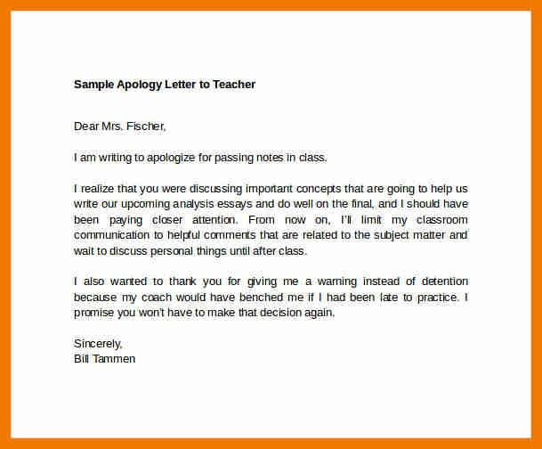 Letter Of Apology Example Business Apology Letter Sample For Ms - apology letter for being late