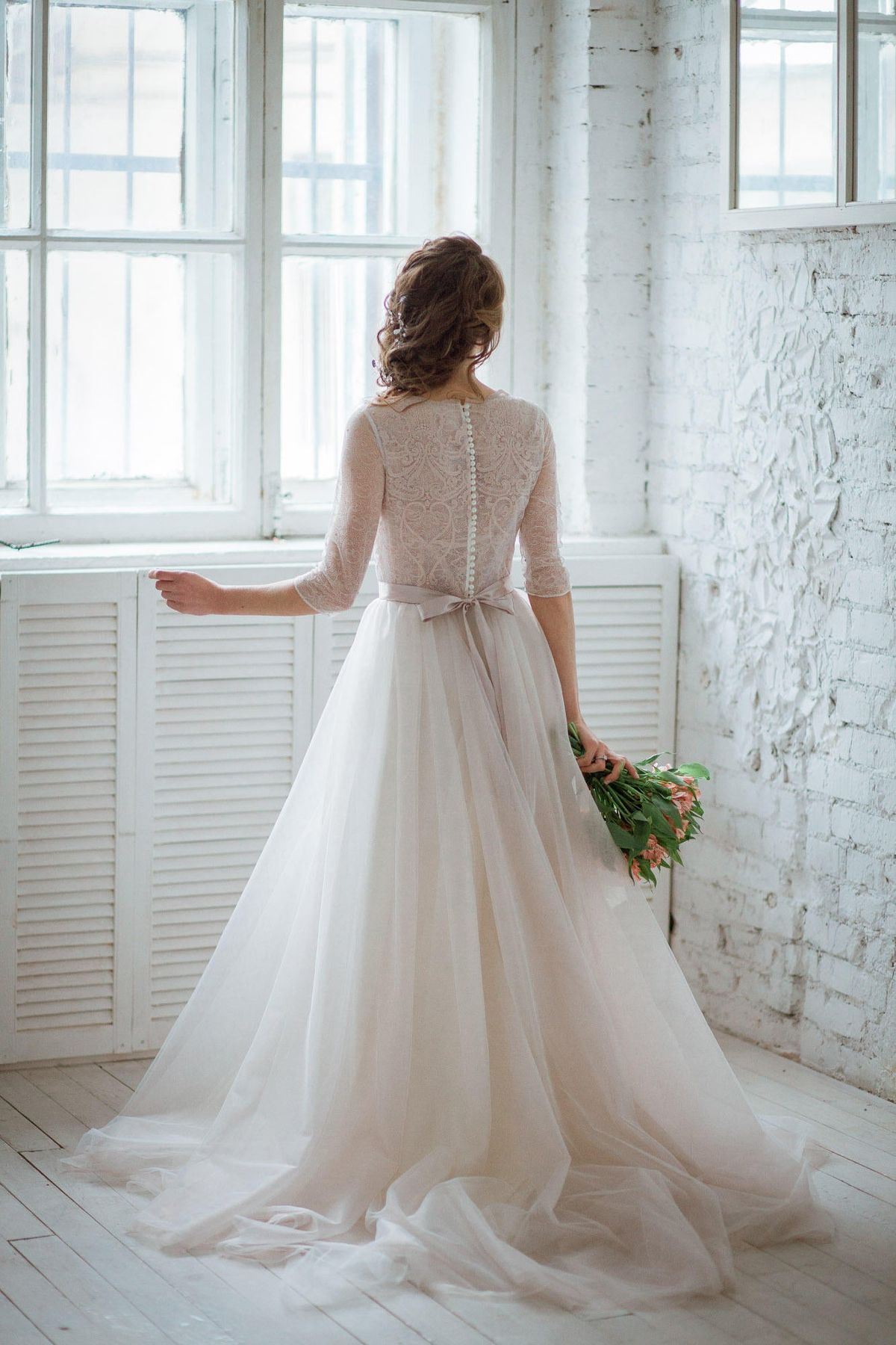 Vintage French Lace Wedding Dress