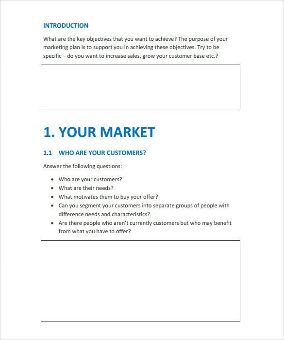 Sales And Marketing Action Plan Template Gallery  Template Design Ideas