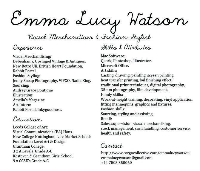 merchandiser resume