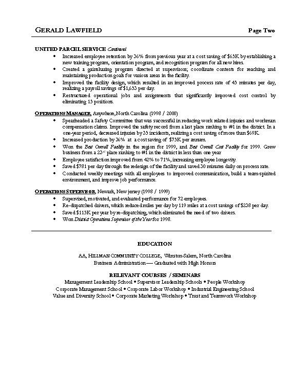 plant manager resume examples examples of resumes - Facility Manager Resume