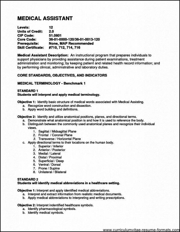 medical assistant responsibilities resumes