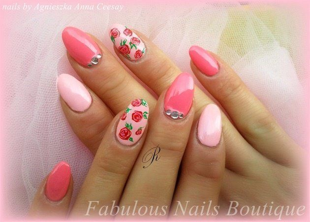 40 Amazing Vintage Roses Nail Designs 2019 – Reny styles