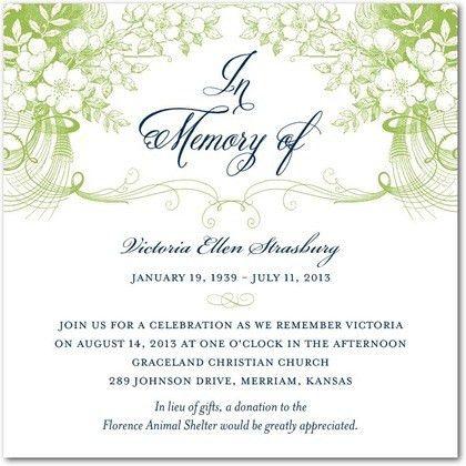 ... Memorial Service Invitation Sample Memorial Service Invitations   Memorial  Service Invitation Wording ...
