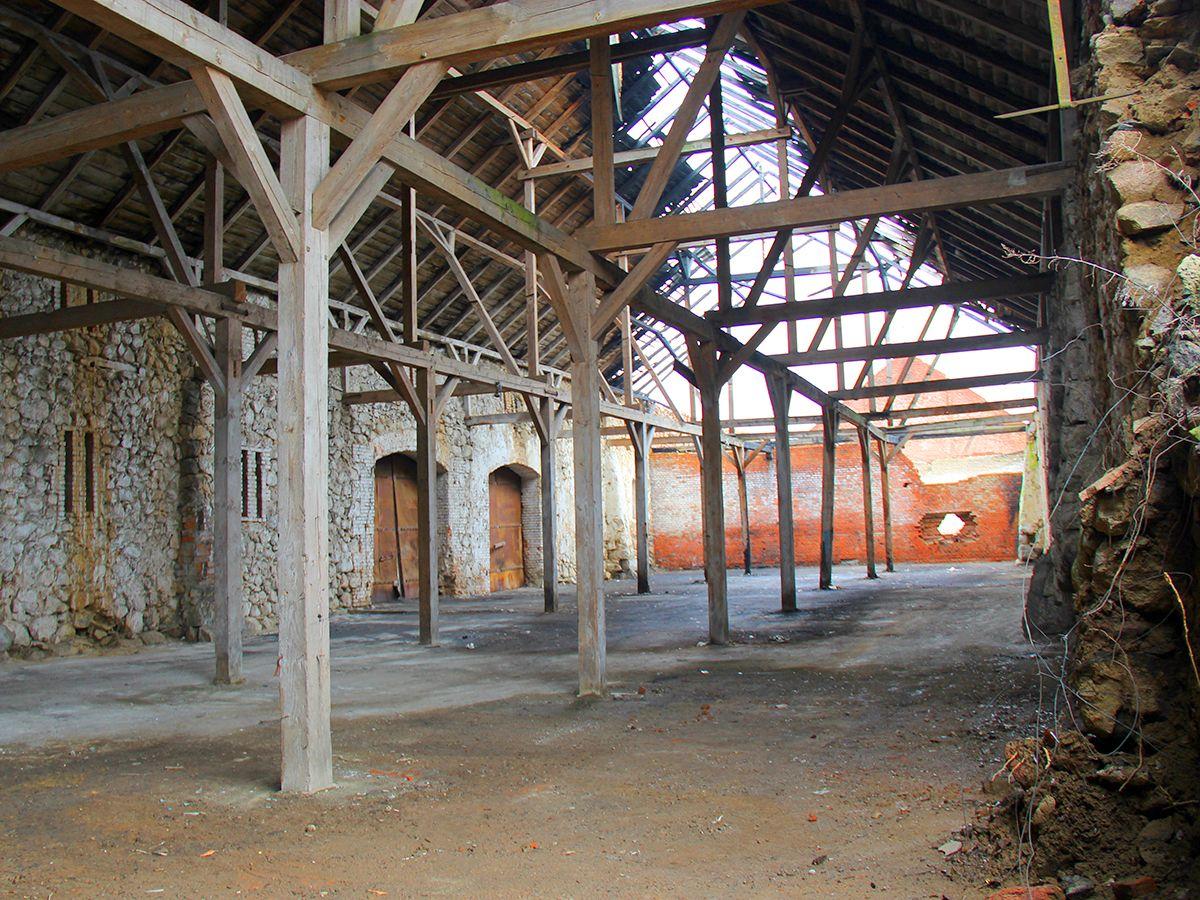 Развалины за Музейно-выставочным комплексом «Янтарный замок»