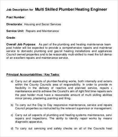 Plumbing Engineer Sample Resume Professional Plumbing Engineer - plumbing engineer sample resume