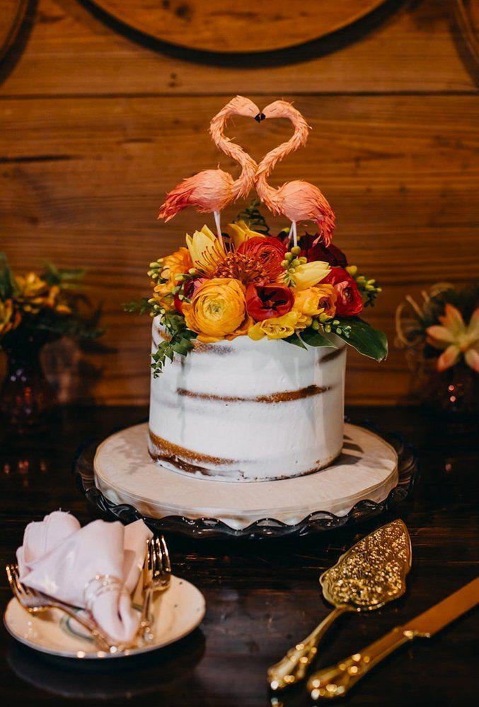 15 Tropical Wedding Cake Trends ❤ tropical wedding cake trends charming birds cake topper radredcreative #weddingforward #wedding #bride