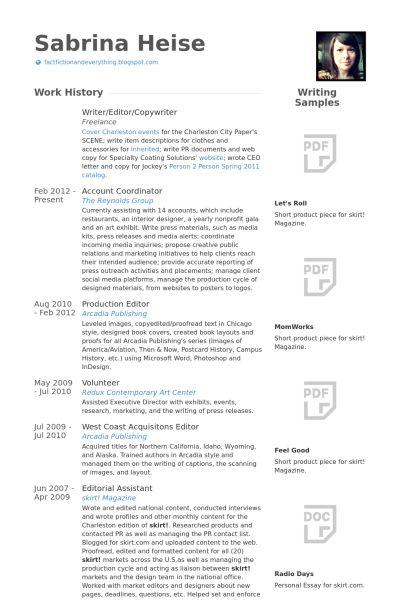 100 Photo Editor Resume Interactive Copywriter Resume