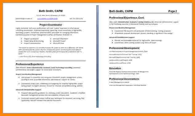 Resume Format 2 Pages 2 Page Resume Example Resume Examples Two - one page resumes examples