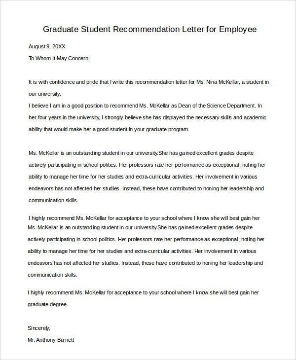 Recommendation Letter Template For Job Sample Recommendation - employment reference letter sample