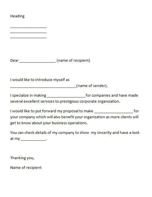Sample Cover Letter To Introduce Yourself | Cover Letter
