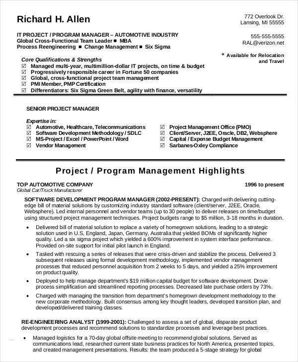 six sigma resume node2003-cvresumepaasprovider