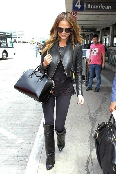 All black travel style