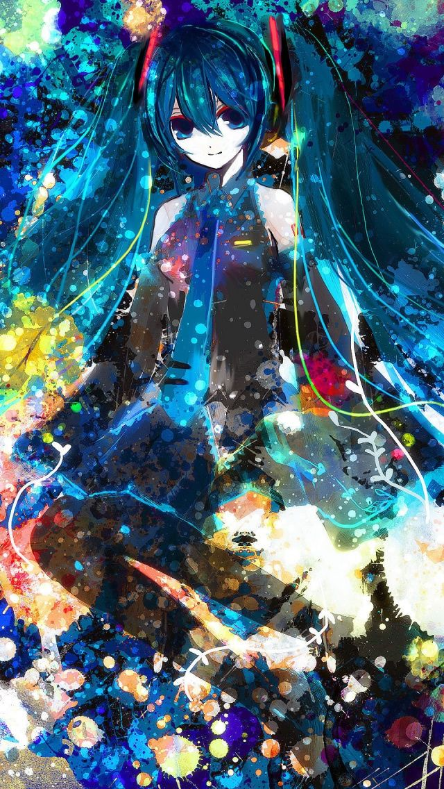 ↑↑TAP AND GET THE FREE APP! Art Creative Anime Asia Cartoon Girl Multicolor Abstract HD iPhone Wallpaper