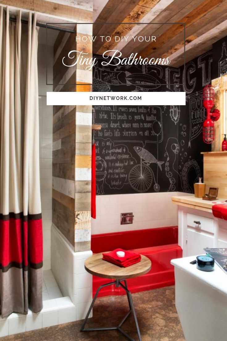 A small bathroom doesn't have to be boring. Jazz it up with clever storage tips and eye-popping design ideas.