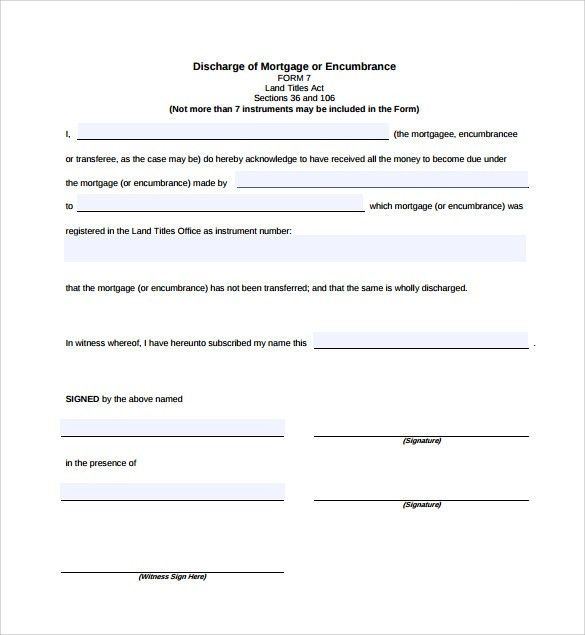 Blank Mortgage Form Mortgage Note Template Sample Form Biztreecom - release of mortgage form