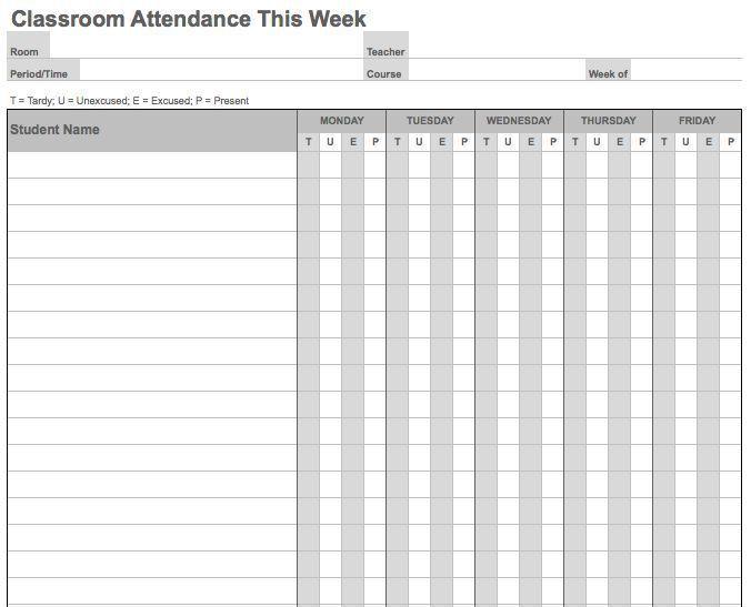 School Attendance Sheets Importance Of Attendance Sheets In - classroom list template
