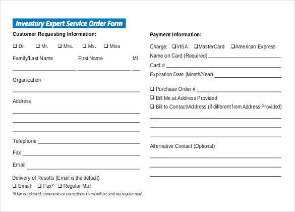 Service Form Template Customer Service Request Form Template - service form in word