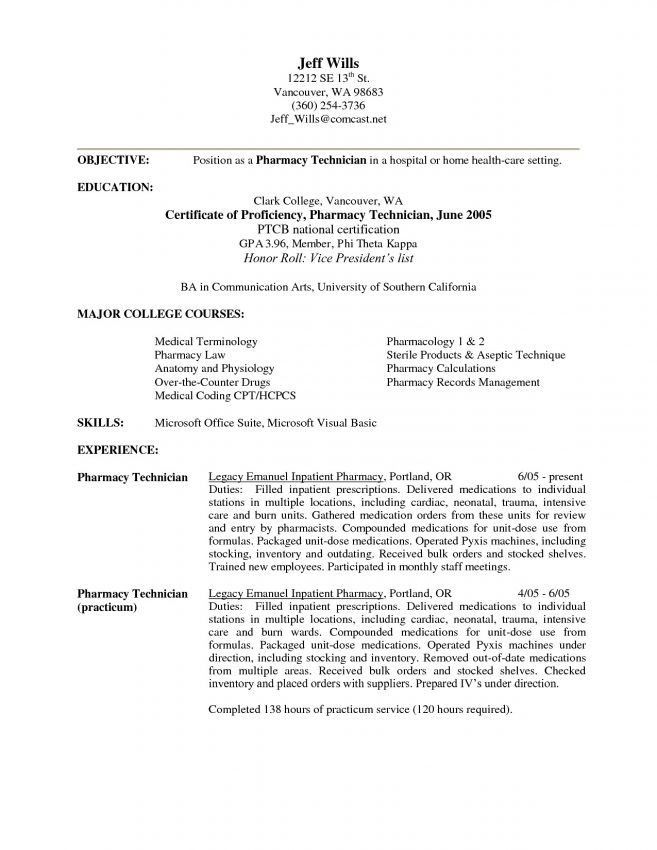 Warehouse Technician Resume 9 Warehouse Technician Resume Sample - pharmacy technician resume template