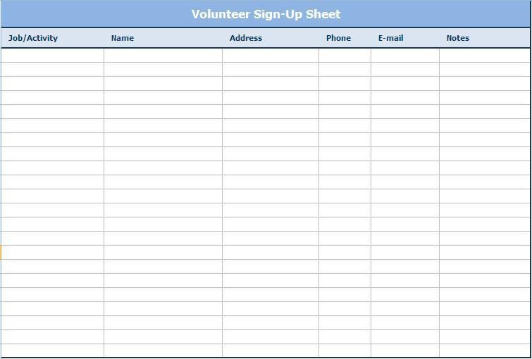 free printable sign in sheets
