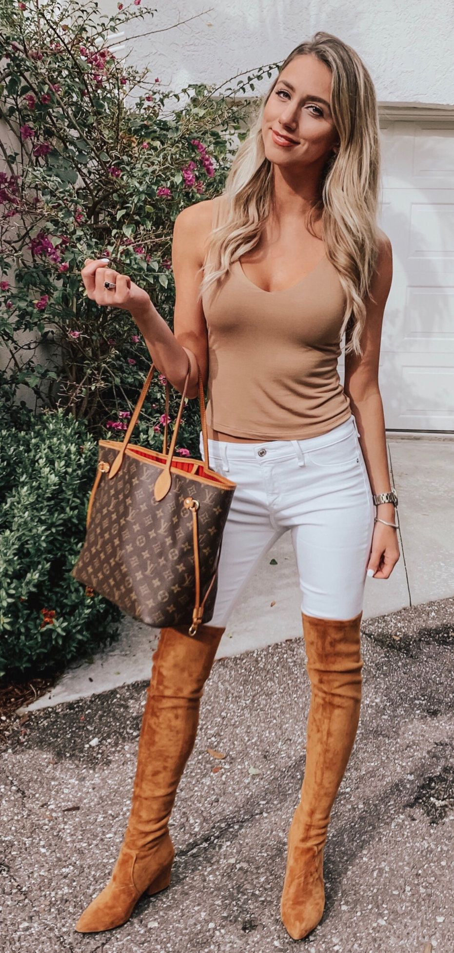 brown tank top #spring #outfits