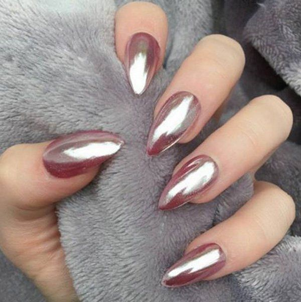 Top Glamour Chrome Nails Art Ideas Trends – Fashonails #nail_art_designs #trendy_nails #chrome_nails