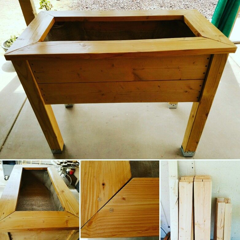 Raised Garden Bed From Basic Lumber