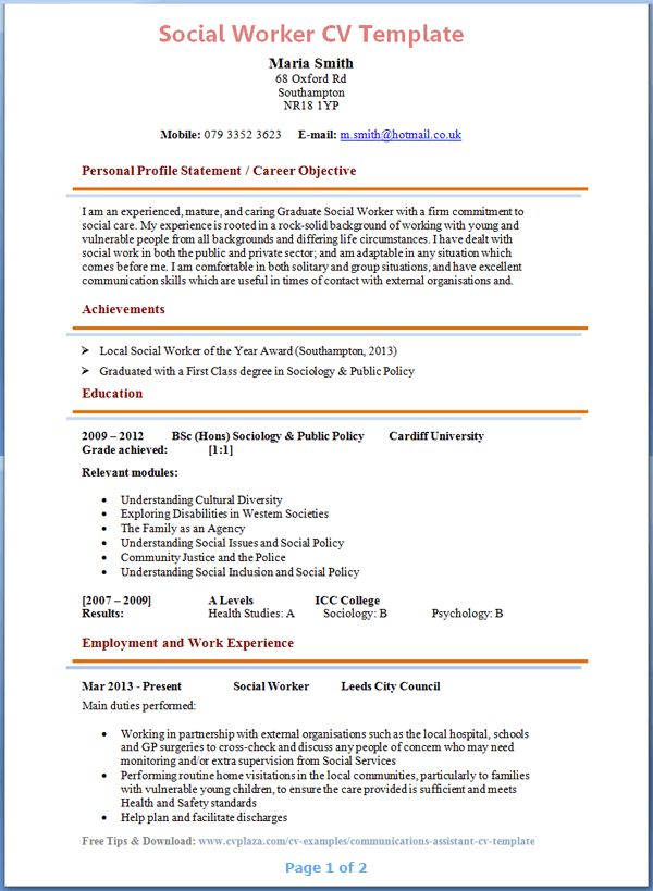 Prison Social Worker Sample Resume Prison Social Worker Sample