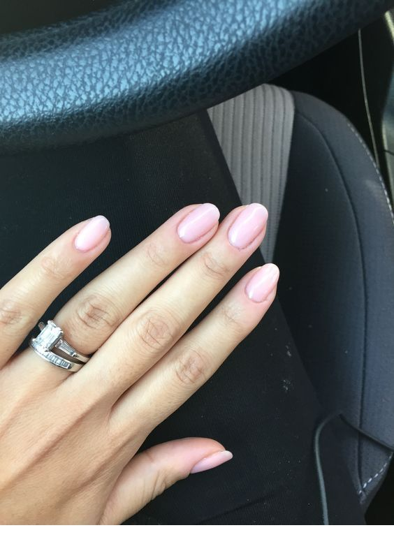 Matte pink nails for Tuesday