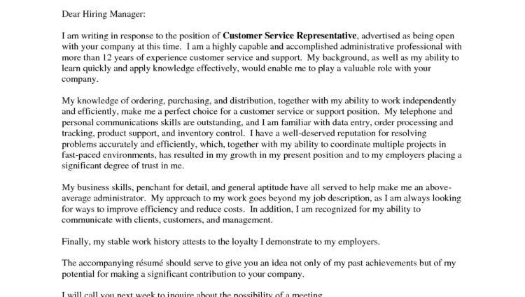 Entry Level Customer Service Cover Letter Enjoyable Design Ideas  Entry Level Customer Service Cover Letter