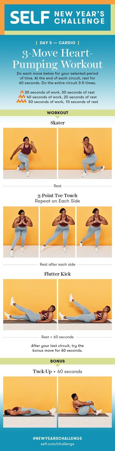 3-Move Beginner Cardio Workout