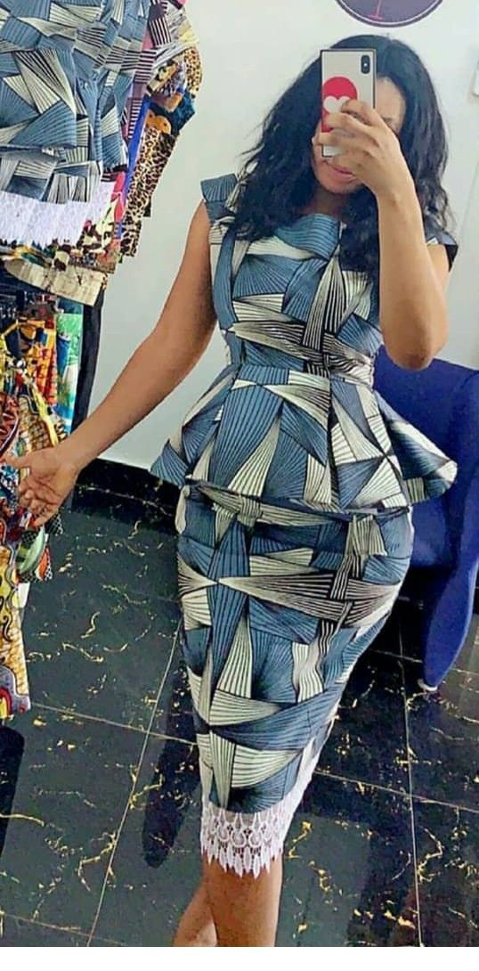 I like this printed dress for office