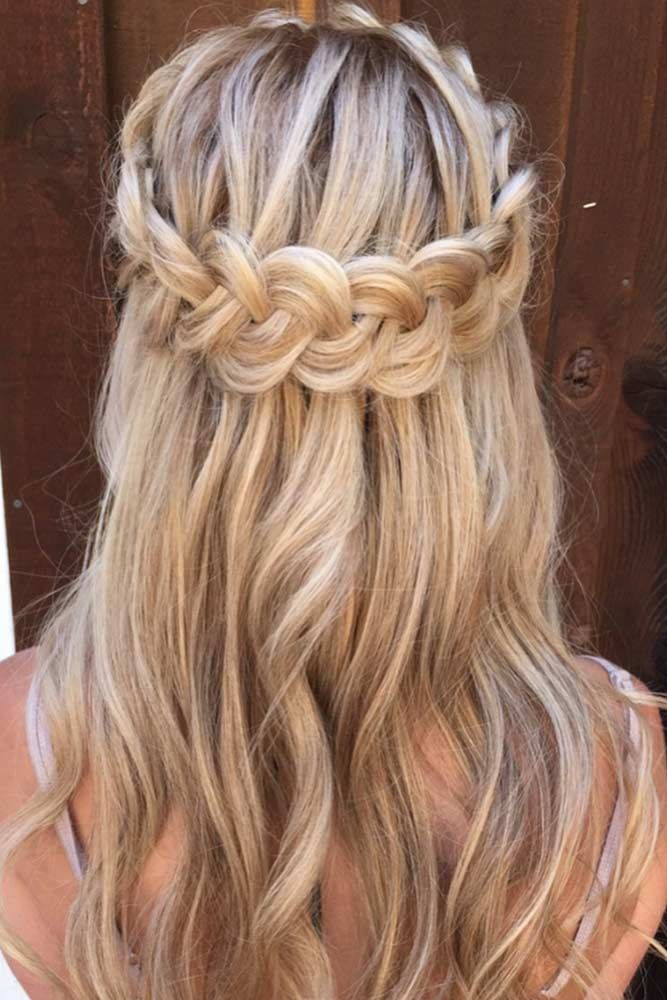 Braided Crown Hairstyle For Long Hair  #braidedhairstyles #longhair ★ Spring break is approaching, and easy hairstyles that look pretty will come in handy whether you have an active or a passive vacation. See our collection. #glaminati #lifestyle #easyhairstyles