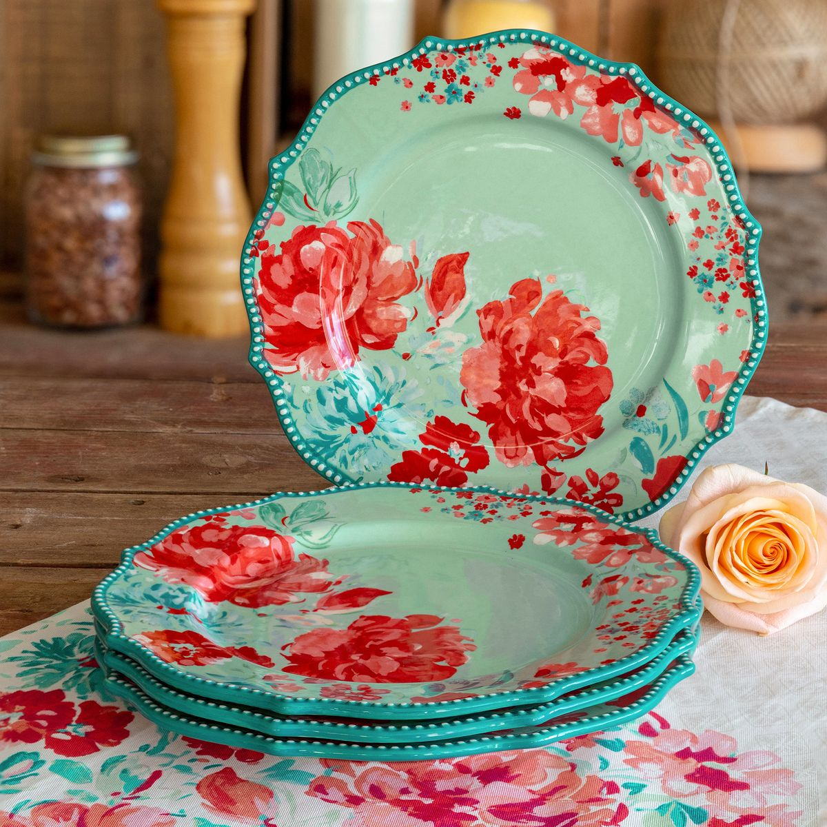 Free 2-day shipping on qualified orders over $35. Buy The Pioneer Woman Gorgeous Garden Dinner Plates, Set of 4 at Walmart.com