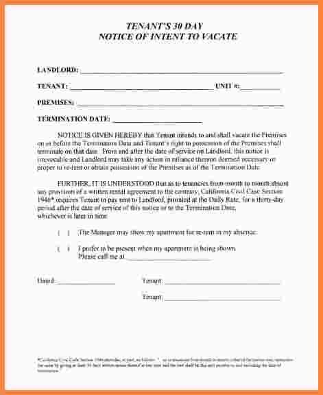 notice to vacate apartment letters