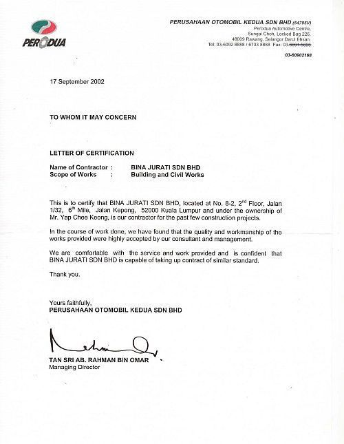 Project Completion Letter Project Confiration Letter Sample - certificate of construction completion