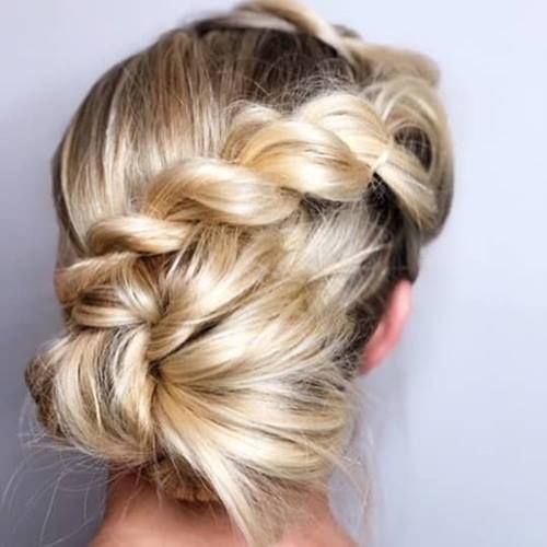 "photo of braided twist chignon updo<p><a href=""http://www.homeinteriordesign.org/2018/02/short-guide-to-interior-decoration.html"">Short guide to interior decoration</a></p>"
