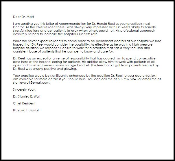 example of professional letter of recommendation