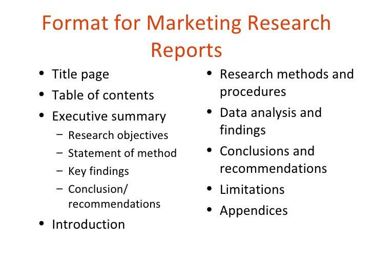 Marketing Research Report Template  Resume Ideas  NamanasaCom
