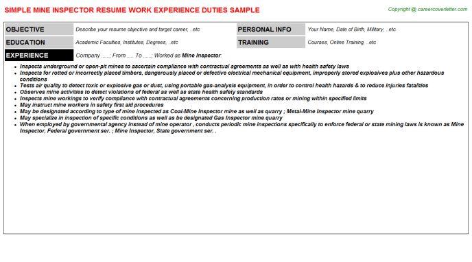 ... Sample Zoning Enforcement Inspector Resume Basic Zoning   Home Inspector  Cover Letter ...